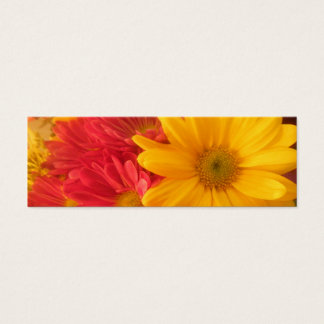Pink and Yellow Daisies bookmark Mini Business Card