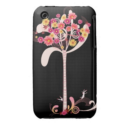 Pink and Yellow Daisy Tree iPhone 3 Case-Mate Case