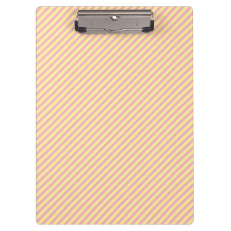Pink and Yellow Diagonal Stripes Clipboards