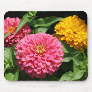 Pink and Yellow Flowers - Mouse Pad