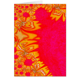 Pink and yellow fractal card