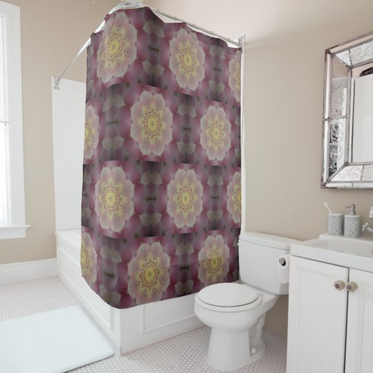 Pink And Yellow Kaleidoscope Shower Curtain