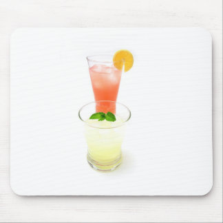 Pink And Yellow Lemonade Mouse Pad