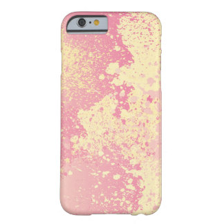 Pink and Yellow Paint Splatter Barely There iPhone 6 Case