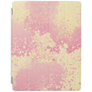 Pink and Yellow Paint Splatter iPad Cover