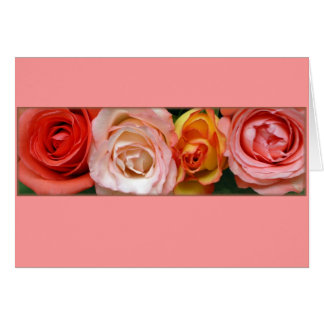 """""""Pink and Yellow Roses"""" Card"""