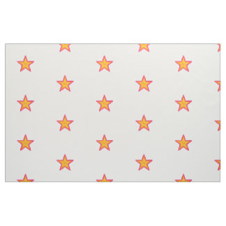 Pink and yellow stars fabric