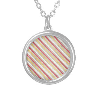 pink and yellow stripes custom necklace