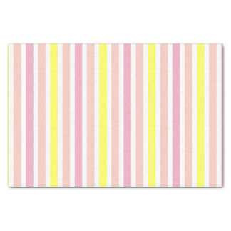 Pink and Yellow Stripes Tissue Paper