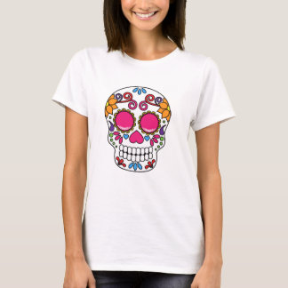 Pink and Yellow Sugar Skull T-Shirt
