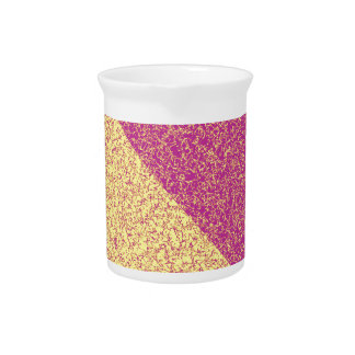 Pink and yellow texture pitcher