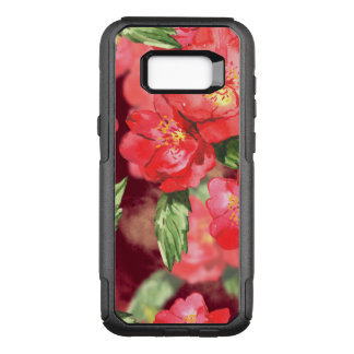 Pink and Yellow Watercolor Roses With Greenery OtterBox Commuter Samsung Galaxy S8+ Case