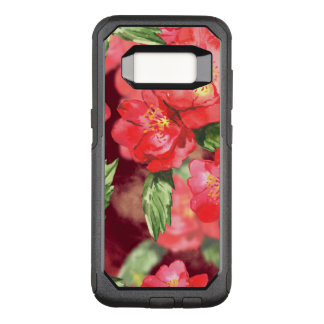 Pink and Yellow Watercolor Roses With Greens OtterBox Commuter Samsung Galaxy S8 Case