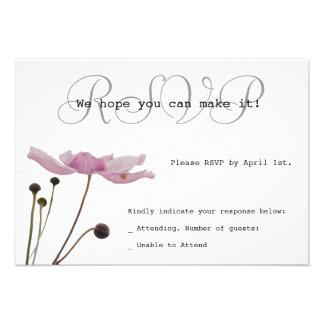 Pink Anemone Custom RSVP Card