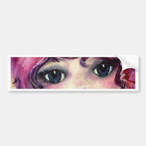 Pink Angel Bumper Sticker