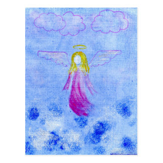 Pink Angel Postcard