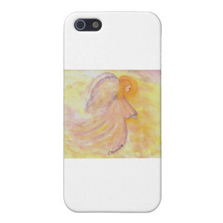 Pink Angel Watercolor Painting iPhone 5 Covers