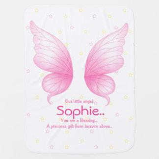 Pink Angel Wings Baby Blanket