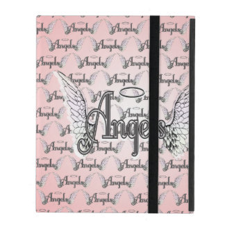 Pink Angels Background with Wings and Halo iPad Folio Case