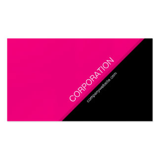 Pink angled text modern business card