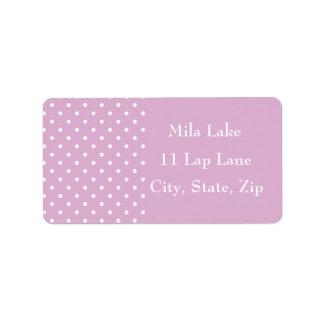 Pink Angora Polka Dot Custom Address Labels