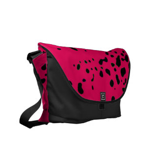 Pink Animal Custom Messenger Bag