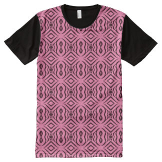 Pink Animal Pattern#14c American Apparel Buy Sale All-Over Print T-Shirt