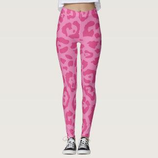 Pink Animal Print Leggings
