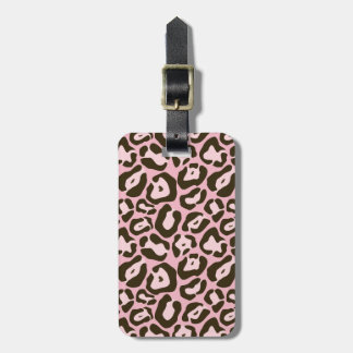 Pink Animal Print Pattern Luggage Tag