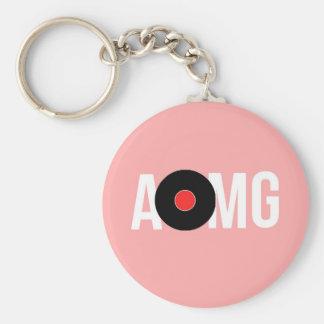 PINK AOMG KEY RING