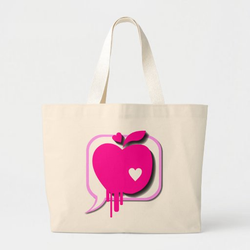 Pink Apple bag with love