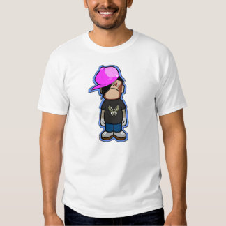 Pink Apple boy in Monkey costume with shadow Tshirts