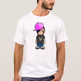 Pink apple boy in monley costume (emo style) T-Shirt