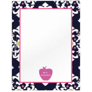 Pink Apple Ikat Teacher Dry Erase Board