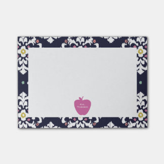 Pink Apple Ikat Teacher Post-it® Notes