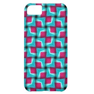 Pink Aqua Puffy Pattern iPhone 5 Case