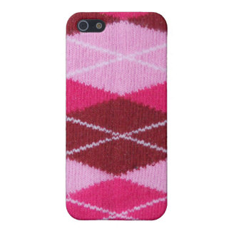 Pink Argyle Cozy  Case For iPhone 5/5S
