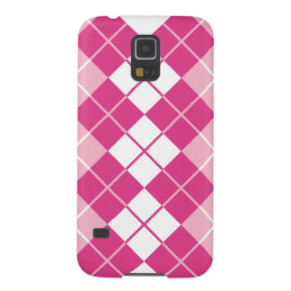 Pink Argyle Galaxy S5 Case