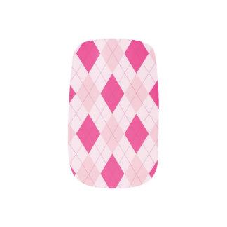 Pink Argyle Minx Nails Minx Nail Art