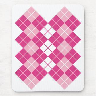 Pink Argyle Mouse Pad