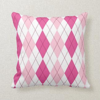 Pink argyle pillow