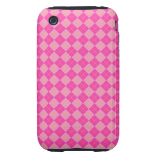 Pink argyle tough iPhone 3 covers