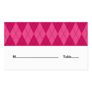 Pink Argyle Wedding Place Card Pack Of Standard Business Cards