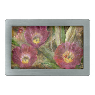 Pink Arizona Desert Flowers Belt Buckle