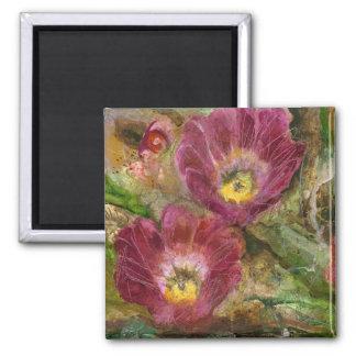 Pink Arizona Desert Flowers Magnet