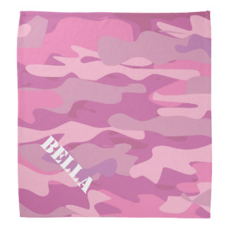 Pink Army camouflage dog bandana | Hunting camo