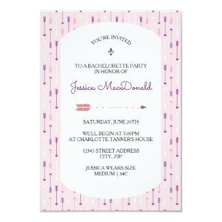 Pink Arrows - 3X5 Bachelorette Party Invitation