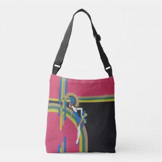 Pink Art Deco Dancer Crossbody Bag