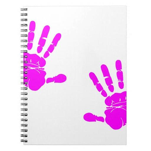 Pink Art Handprint - Funny Spiral Note Book