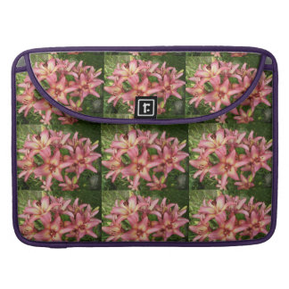 Pink Asiatic Lily MacBook Pro Sleeves